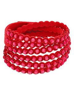 Swarovski Power 5531287 Fabric Red-Colored Crystal Bracelet