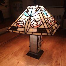 Rennie mackintosh Art Deco Rose Design Style Tiffany glass Lamp