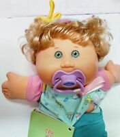 2004 Blonde Cabbage Patch Kid PlayAlong Doll With Newborn Baby Book and Pacifier
