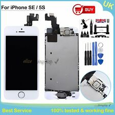Replacement LCD Screen For iPhone SE 5S Touch Display Home Button Camera White
