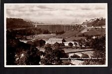 Lockwood Viaduct from Beaumont Park, Huddersfield - real photographic postcard