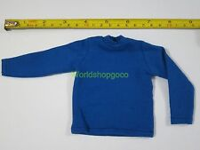 """1/6 Scale Tee Hot Blue Long Sleeves T-Shirt For 12"""" Action Figure Toys"""