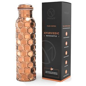 Pure Copper Handmade Water Bottle, Health Benefits, Reduced slightly Imperfect