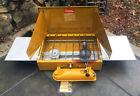 Rare 1972 Gold Bond Coleman Model 425E 2-Burner Camp Stovewith Chef Trays!