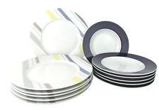 'LYN' 12-teiliges Tellerservice / mit 12 Tellern aus Porzellan, dekoriert