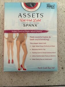 SIZE 6F NEW SPANX Assets Red Hot Label SUPER CONTROL HIGH WAIST PANTY BLACK