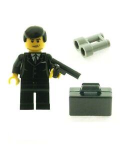 LEGO Minifigure James Bond with Weapon Briefcase & Binoculars Genuine LEGO Parts