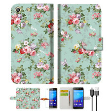 Royal Garden Wallet TPU Case Cover For Sony Xperia M5 -- A023