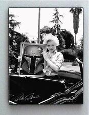 Framed Marilyn Monroe holding Star Wars Boba Fett Helmet faux autograph Lim. Ed.