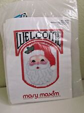 Mary Maxim 5879 Welcome Sign with Santa Plastic Canvas Kit