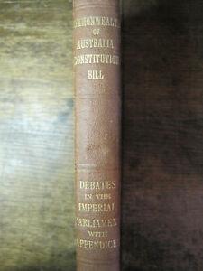 Antiquarian COMMONWEALTH OF AUSTRALIA CONSTITUITION BILL,1900,H/C,WA Secession.