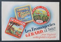 BUVARD FROMAGERIES GERARD LE THOLY Vosges Recollet Le Friand Blotter