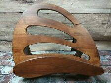 Natural Wood Cook Book Stand Cookery Book Stand Baking Recipe Holder Book Rest
