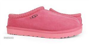 UGG Tasman Tea Rose Suede Fur Slippers Mens Size 12 *NIB*