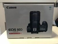Canon EOS 80D 24.2MP Digitalkamera Kit EF-S 18-55mm Objektiv - neu OVP Garantie