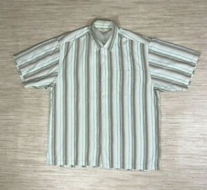Tommy Bahama Multicolor Silk Men's Size Large Camp Shirt Striped Short Sleeve