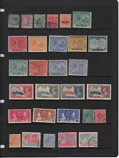 St Kitts Nevis Small Stamp Collection On 2 Hangers