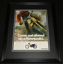 1972 Kawasaki 350 Enduro Framed 11x14 ORIGINAL Advertisement