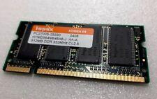 Hynix 512MB PC2700 DDR333 low density 333Mhz Laptop MEMORY SO-DIMM RAM