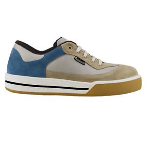 Maxguard Arbeitsschuhe Sicherheitsschuhe S390 Sneaker beige-blau Größe 37 S1P
