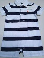 NWT Ralph Lauren 9 months baby boy polo  jumper romper white & blue stripe