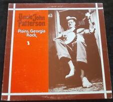 UNCLE JOHN PATTERSON Plains, Georgia Rock LP Arhoolie 5018