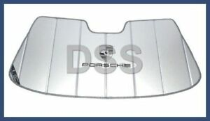 NICE USED ORIGINAL GENUINE PORSCHE 911 912E 930 SUN VISOR BRACKET BLACK TALL