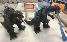 "LOT 2 NECA GODZILLA GMK 2001 FIGURES Atomic Blast monster Incomplete 6"" Kaiju 01"