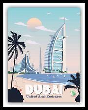 DUBAI BURJ AL ARAB JUMEIRAH HOTEL TRAVEL POSTER METAL PLAQUE TIN WALL SIGN 1758