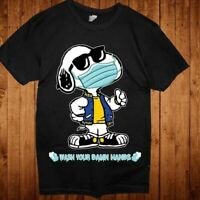 Funny Gildan Snoopy* Sunglasses Mask Wash Your Damn Hands T-Shirts Cotton S-5XL