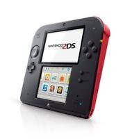 Nintendo 2DS Crimson Red Portable System Handheld Very Good