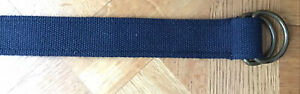 Mens Canvas Navy Belt 30-35 In