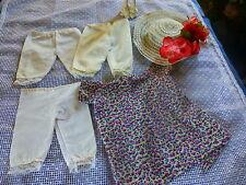 lot 5piéces = pantys ,robe et chapeau pour poupée 20-25cm