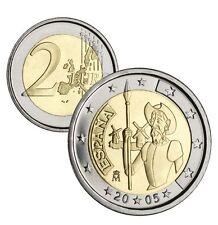 "manueduc   2 Euros   ESPAÑA 2005   Conmemorativa  "" DON QUIJOTE""   NUEVA"