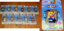 "New SAILOR MOON Complete Set of 12 CLIP ON KEYCHAIN ~ 2000 IRWIN 2"" Tall Figure"