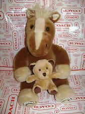 "BREYER HORSE PONY with TEDDY BEAR PLUSH STUFFED  11"" BROWN TAN SOFT & CUTE"