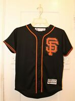 MAJESTIC San Francisco Giants Black Jersey Youth Small Coolbase