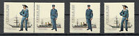 PORTUGAL-MNH** PAIR+TWO STAMPS-Portuguese military uniforms - Marine-1983.
