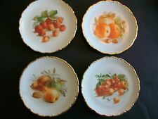Hand Painted Fruit Design Plates (4), Germany