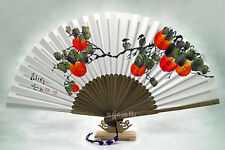 Hanguel Hand Held Folding Hand Paper Fan Painted Korean Traditional Bamboo Fan