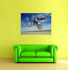 Motorcross Bike Wall Art Poster Print A3//A4 Sections or Giant 1 Piece