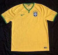 Authentic Nike - 2014 Brazil National Soccer Team - XL - Mens - Dri Fit Jersey