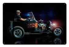 Ratty Rat Rod Ford T Bucket Hot Rod US Muscle Car Retro Sign Blechschild Schild