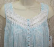 NWT M Medium Eileen West Gown 100/% Lawn Cotton NEW NightGown Gown  3//4 Sleeve