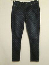 Women's LIVERPOOL Abby Ankle Skinny Stretch Polka Dot Blue Jeans - Size 0