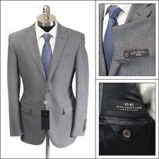 $795 NWT CORNELIANI CC Light Gray Stripe Virgin Wool 2Btn Coat Jacket 50 40 R