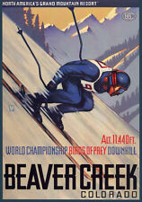 Beaver Creek Colorado Vintage Travel Ski Poster