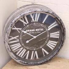 Relojes de pared redonda de color principal negro de batería