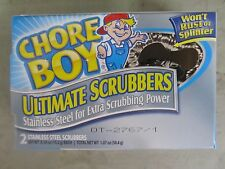 Chore Boy Stainless Steel Scrubber Package of 2 Won't rust or splinter