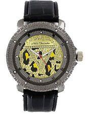 Nele Fortados Strass Armbanduhr schwarz Leder Damenuhr analog Analog Watch